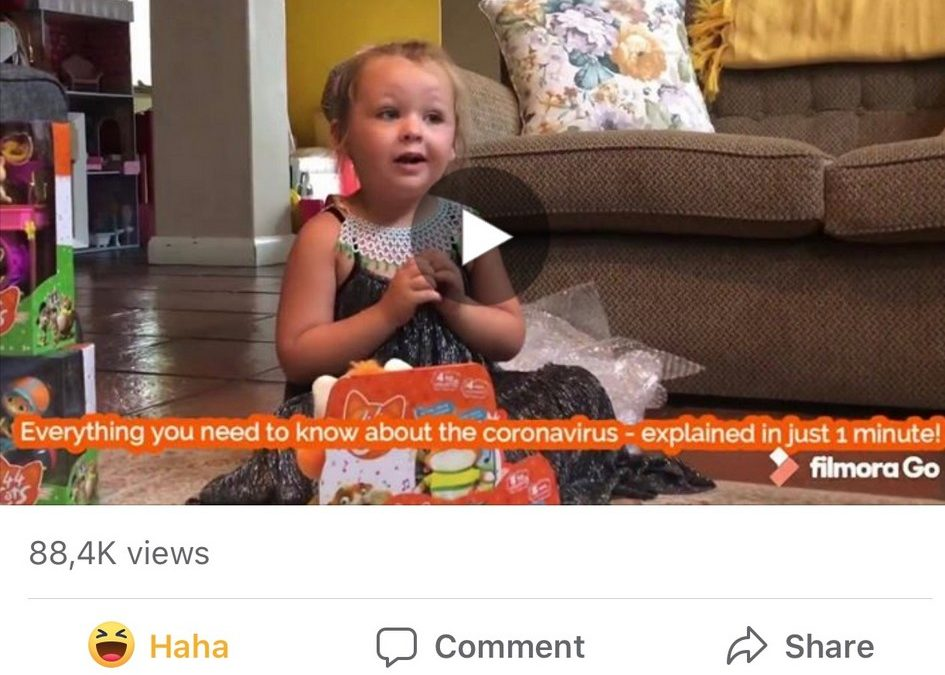 little girl explains the coronavirus in 1 minute saying spur is still safe to visit